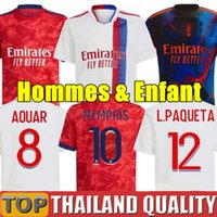 20 21 Lyon camisetas de fútbol OL 2020 2021 DEMBELE TRAORE MEMPHIS Olympique de Lyon Camiseta de futbol T. MENDES Aouar TRAORE Hombres Kit para niños uniforme
