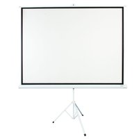 Leadzm 100 INCH 4:3 HD Portable Pull Up Projector Screen Home Theater Stand Tripod Office use White background Simple and fast