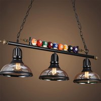 American LED Billiard Pendant Lamp For Restaurant Bar Clothing Store Hall Table Shop Decorative Hanging Lamps