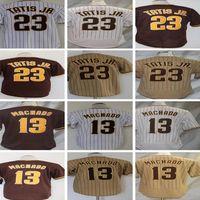44 Joe Musgrove 24 Blake Snell 23 Fernando Tatis Jr. Jersey 13 Manny Machado 9 Jake Cronenworth 19 Tony Gwynn 29 Dinelson Lamet Baseball Jerseys