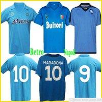 1997 1998 Napoli Retro Futbol Forması Coppa Italia SSC Maradona Vintage Calcio 82 83 93 Napoli Retro Klasik 1991 Napoli Zloa Futbol Gömlek
