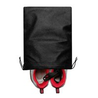 Storage Bags Non Woven Fabric Black 40 * 50cm Dustproof Moisture Proof Shoe Bag Environmental Simple Drawstring Pocket