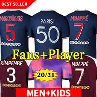 20 21 22 Futbol Forması MBappe Verratti 2020 2021 Oyuncu Sürüm Marquinhos Kimpembe Di Maria Kean Futbol Jersey Futbol Erkekler Gömlek Tops ve Çocuk Setleri
