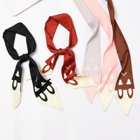 Scarves French Chain Saddle Scarf Female Necktie Bag Handle Ribbon Headband Shawl Head Narrow Long Skinny Handband Tie