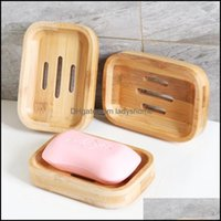 Dishes Aessories Bath Home & Gardethroom Holder Tray Container Bamboo Natural Shower Dish Bathroom Eco-Friendly Wooden Soap Storage Box Drop