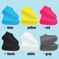 Многоразовые водонепроницаемые силиконовые ботинки Обувь Унисекс Дождепроизводимые Сапоги Нескользящие Орбоки Толстый Износостойкий Портативный Открытый Дождь Полезный DHD8290