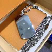 Nova qualidade de alta qualidade de aço inoxidável letra colar à prova d 'água tag tag colar unisex colar de prata cadeia de jóias