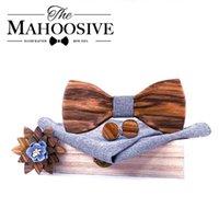 나무 나비 넥타이 남자 bowtie est 나비 매듭 망 액세서리 나무 cravat 공식 상업 정장 결혼 선물 세트 목 넥타이