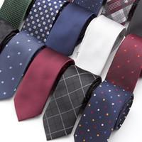 20 Cravate de style Cravate Men Skinny Necktie Cravates Mariage Crêties Polyester Black Dot Fashion Mens Business Bowtie Chemise Accessoires