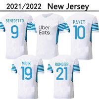221 22 Marsiglia Soccer Jerseys Olympique Milik Maillot deley OM 2021 2022 Camiseta Payet Thauvin Benedetto uomo Camicia da calcio