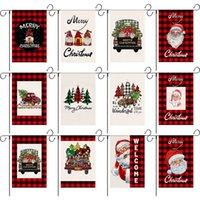 Banderas de jardín de Navidad Detalle Decorativo Santa Claus Snowman Indoor Outdoor Yard Banner Decoración del hogar