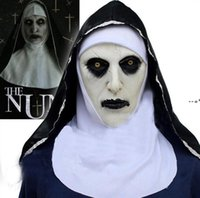 The Nun Cosplay Mask Costume Latex Prop Helmet Valak Halloween Scary Horror Conjuring Scary Toys Party Costume Props NHB10399
