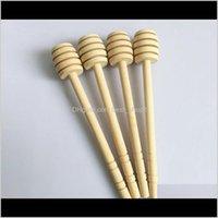 Другое посуда 8 см Мини Деревянные салоны Party Party Support Spoon Медовая банка DH0172 LWRTX YNJ0L