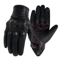 Five fingers gloves mitten cycling Women Motor Touch Xs S M Racing Leather Guantes Bikes Glove Female Vehicle Luvas Mujer 0910