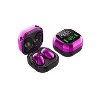 S6 Plus TWS Auricolari wireless Confortevole Mini pulsante Bluetooth Auricolari Cuffie HiFi Sound Binaural Call Earphies 9D Sport Auricolare 3 colori