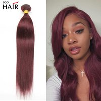 Burgundy Bundles Brazilian Straight Bundle 30 Inches 99J Red Colored Remy Human Hair Weave Extensions 3 4 Pcs Deal