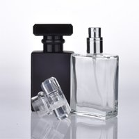 30ml transparent black travel perfume cosmetic bottle