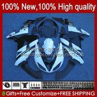 Faneros de motocicleta para Kawasaki Ninja ZX-10R ZX1000 ZX 10R 10 R 1000 CC 2006-2007 Bodywork 14NO.41 ZX1000C ZX10R 06 07 ZX1000CC 1000CC 2006 2007 Bodys Kit Blanco Negro