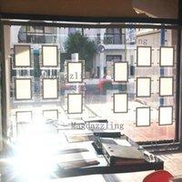 Vertikal + 4 stücke A3 Vertikale Einzelseitige Immobilienagentliche Eigenschaft LED-Fensteranzeige Acryl-Lichttasche für Realtor-Module