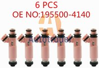 6PCS 195500-4140 1955004140 MR507376 Fuel Injectors Nozzle For Mitsubishi Pajero Sport 6G72 3.0 V6