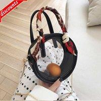 Designer Shoulder Bags Womens Wallets Travel Duffle Luggage Bag Fashion Transparent Clear Circular 2 Pic Zipper Detachable Chain Handbag