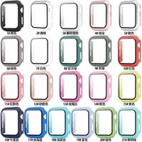 Wholesale Matte Hard Smart Watch Cover Cases with Screen Protector for Apple iwatch Series 5 4 3 2 1 Full Coverage Case 38 40 42 44mm