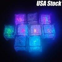 Multi colore LED lampeggiante lampeggiante illuminazione luminoso illuminazione cubetti di ghiaccio sensore liquido per bevande fogli di nozze festa natale