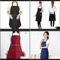 Textiles Home & Garden Drop Delivery 2021 Mens And Womens Aprons Family Kitchen Chef Apron Restaurant Cooking Baking Dress Fashion + Pocket 1