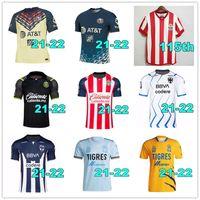 21 22 Club America Chivas Naul Tigres Jersey F. Vinas Henry Liga MX 2021 2022 Guadalajara 115th Rodriguez América Giovani Hommes Kit Chemise de football