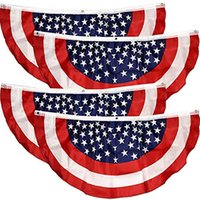 45 * 90 سنتيمتر أعلام على شكل مروحة الرايات الوطنية راية العلم الأمريكي النجوم والمشارب الولايات المتحدة الأمريكية 4 ص ذكرى يوم التذكارية أيام الاستقلال في الهواء الطلق HH21-326