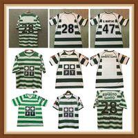 Sporting CP 01 02 03 04 Lisboa Retro Soccer Jerseys Ronaldo Marius Niculae Joao Pinto 2003 2004 Lissabon Classic Vintage Fotbollskjortor