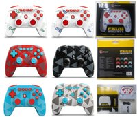 6 Colors Wireless Controller Bluetooth Hand Game Controllers Vibration Joystick Gamepad for Switch PRO  N-SL PS3 With Retail Box