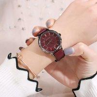 Relógios de pulso Moda Simple Shading Dial Relógio de Correia À Prova D 'Água