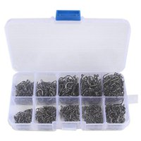 PCS / Caja Hooks de pesca Cosas de acero de alto carbono Círculo Círculo Tamaño mezclado Jig Jig Gancho Tackle para agua salada