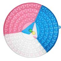 Doigt Bulles Sensory Jouets Grand Taille Fidget Poussoir Puzzle Puzzle de bureau Tabletop Tabletop Decompression Board Multijoueur Grande Dice Échecboard Bubble G72HU0B