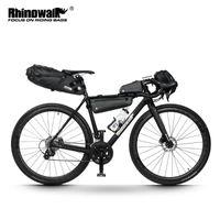 Велосипедная сумка Rhinowalk для дорожного велосипеда Велоспорт Водонепроницаемый седловой кадр нести велосипедные стойки для автомобилей