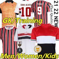 21/22サンパウロサッカージャージーBrenner Pato Pablo Dani Alves 2021 2022SãoPauloCamisa de Futebol Men Wome Kids Kitsベストゴールキーパートレーニングサッカーシャツ