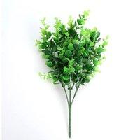 Вилка искусственные растения эвкалипта трава пластиковые папоротники зеленые листья поддельных цветов растение свадьба украшения дома стол декор декор декоративные