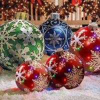 60CM Christmas Decoration Balloon Party Toys Inflatable Balls Tree Decorations Toy for Home Outdoor Fun 2021 Gifts Xmas Decor Crafts Supplies