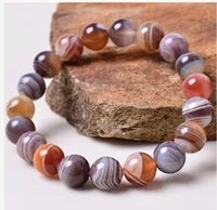 Free Ship ping on Natural Chalcedony Beaded Bracelet