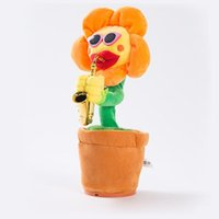 Tanz Sonnenblumen Niedlich Bezaubernde Plüsch Musik Spielzeug Handgemachte Lumineszenz Elektrische Bezauberungen Blumen Neuartiger Stil KKB7813