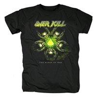 11 diseños Overkill Rock Brand Shirt 3d ilustración tee fitness hardrock pesado oscuro metal 100% algodón gótico murciélago punk punk