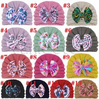 Fashion baby autumn and winter knitted hat warm and lovely Bow Hats kids Hat9210