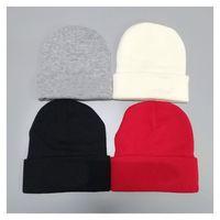 가을 겨울 남자 비니 블랙 그레이콜 패션 모자 여자 뜨개질 HA T Unisex 따뜻한 H 고전 모자 브랜드 니트 모자 4colors Balck 빨간색 흰색 회색