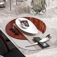 Dishes & Plates Luxury Soft Western Dining Table Setting Dinner Plate Creative Stainless Steel Closing Dessert Bowl Black Bookmark Spoon Hol