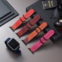 Canvas Nylon Strap For Apple Watch band 44mm 42mm 40mm 38mm Soft Sweat-absorbent And Breathable Bracelet Loop Replacement Watchband