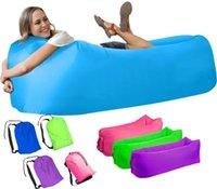 Открытый колодки кемпинга Надувной диван Ленивые сумка Портативный складной Спящий Air Bed Lounger Trending взрослых Beach Lounge Председатель