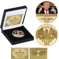 Ich komme wieder zurück Rückkehr Trump 2024 Münze Präsident Donald Trump Gefälschte Geld Anti Niemand Joe Biden Maga US-Präsidentschaftswahlen G5765Qs