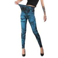 Women's Leggings Female Sexy Skinny Jean Jeggings Fashion Classic Stretchy Slim Pants Plus Size Bottoms