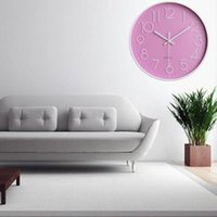 Smart Creative Fashion Silent Wall Clock Battery Sweep Movem...
